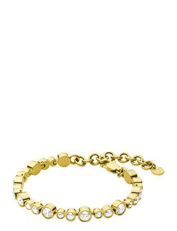 Dyrberg/Kern Teresia Sg Crystal Accessories Jewellery Bracelets Chain Bracelets Kulta Dyrberg/Kern GOLD CRYSTAL