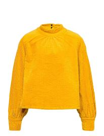 LMTD Nlfatoah Cord Ls Shirt Dt T-shirts Long-sleeved T-shirts Keltainen LMTD NUGGET GOLD