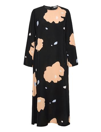 Marimekko Hilbertti Lennokki Dress Polvipituinen Mekko Musta Marimekko BLACK, BEIGE, BLUE