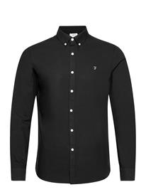 Farah Brewer Long Sleeved Slim Fit Shirt Paita Rento Casual Musta Farah BLACK
