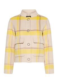 Selected Femme Slfterry Handmade Check Jacket B Villakangastakki Harmaa Selected Femme SANDSHELL