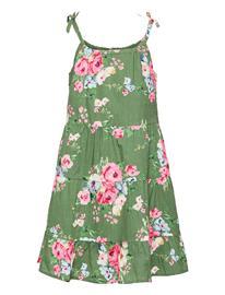 GAP Girls Tiered Floral Dress Mekko Vihreä GAP TWIG