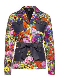Boutique Moschino Blumen Jacket Kesätakki Ohut Takki Monivärinen/Kuvioitu Boutique Moschino FANTASY PRINT