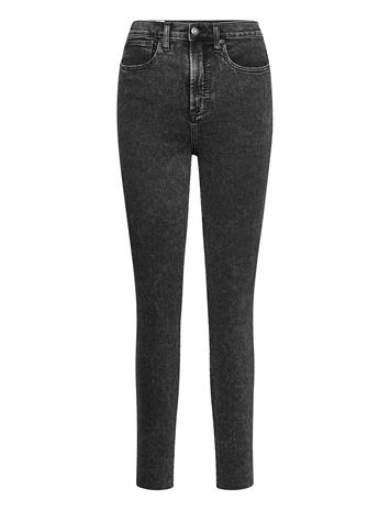 GAP Sky High Rise True Skinny Jeans With Secret Smoothing Skinny Farkut Musta GAP ACID WASH
