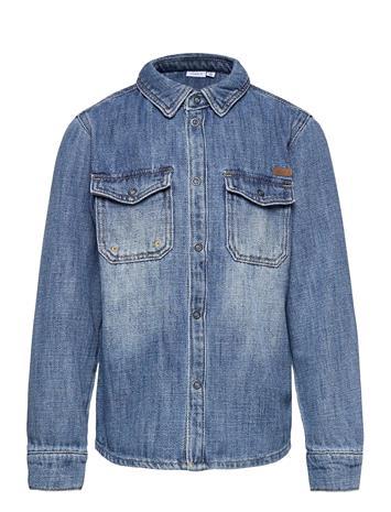 name it Nkmagil Dnm 1351 Ls Shirt Paita Sininen Name It LIGHT BLUE DENIM