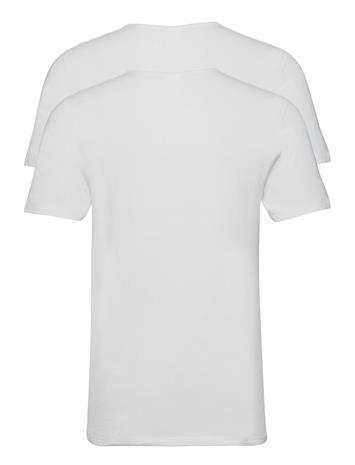 Dovre Dovre T-Shirt 2-Pack Gots T-shirts Short-sleeved Valkoinen Dovre VIT