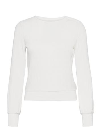 GAP Pointelle Crewneck T-Shirt T-shirts & Tops Long-sleeved Valkoinen GAP MILK 600 GLOBAL