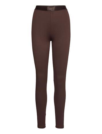 Gina Tricot Connie Leggings Leggingsit Ruskea Gina Tricot BLACK COFFEE (7207)