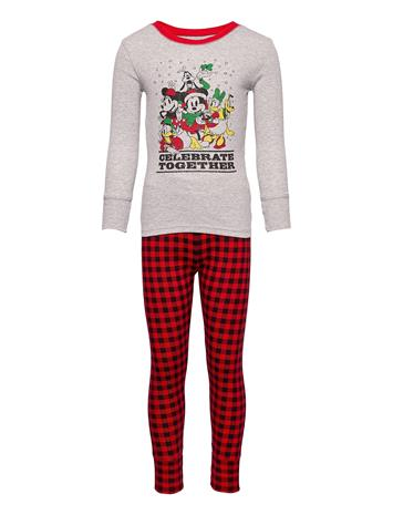 GAP Gapkids   Disney Mickey Mouse And Friends Pj Set Pyjamasetti Pyjama Harmaa GAP HEATHER GREY