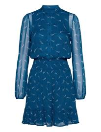 Michael Kors Sig Logo Print Dress Lyhyt Mekko Sininen Michael Kors RIVER BLUE