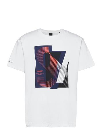 Hackett London B&T Amr Racing Print T T-shirts Short-sleeved Valkoinen Hackett London WHITE