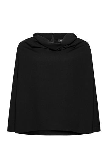 Zizzi Blouse Draping Plus Long Sleeves Neulepaita Musta Zizzi BLACK