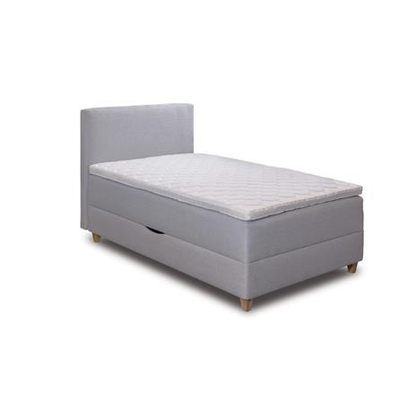 Sänky Hypnos Pandora vuodevaatelaatikolla 120x200 cm, jäykkä, harmaanruskea