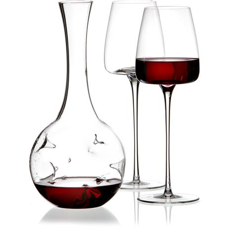Zieher Eddy Mini Decanter and two Vision Straight Glasses