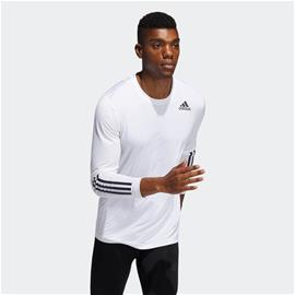adidas Techfit 3-Stripes Fitted Long Sleeve Top