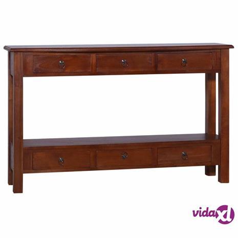 vidaXL Konsolipöytä klassinen ruskea 120x30x75 cm täysi mahonki