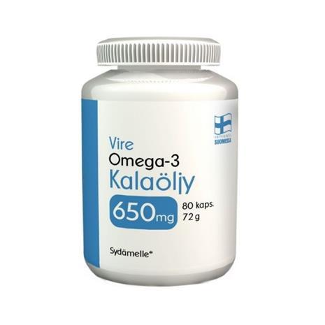 Vire Kalaöljy 650 mg, 80 kaps.