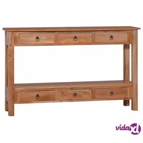 vidaXL Konsolipöytä 120x30x75 cm täysi mahonki
