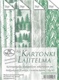 J.K. Primeco Pohjolan metsä A6 kartonkilajitelma