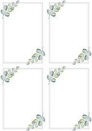 J.K. Primeco Eukalyptys A4 koristetaustapaperi