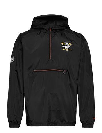 Fanatics Anaheim Ducks Iconic Back To Basics Lightweight Jacket Outerwear Jackets Anoraks Musta Fanatics BLACK