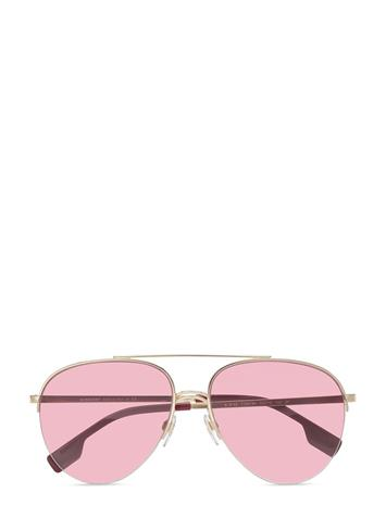 Burberry Sunglasses Sunglasses Pilottilasit Aurinkolasit Vaaleanpunainen Burberry Sunglasses CLEAR GRADIENT DARK VIOLET
