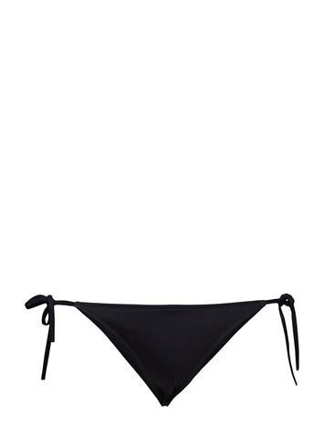 Calvin Klein Cheeky String Side Tie Bikini Bikinialaosa Musta Calvin Klein BLACK / HOT CORAL