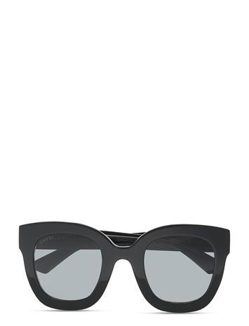 Gucci Sunglasses Gg0208s Neliönmuotoiset Aurinkolasit Musta Gucci Sunglasses BLACK-BLACK-GREY