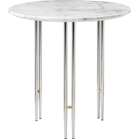 Gubi Gubi-IOI Kahvipöytä Chrome / Messinkinen / Valkoinen Marmori , ä˜50 cm