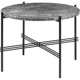 Gubi Gubi-TS Kahvipöytä ä˜55 cm, Musta / Harmaa Travertiini