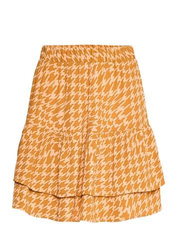 Nä¼mph Nuballou Skirt Lyhyt Hame Oranssi Nä¼mph BUCKTHORN BROWN