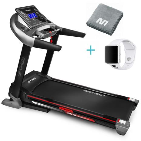 Spokey Tractus -juoksumatto + kaupan päälle valkoinen N1 X7 urheilukello ja N1 urheilupyyhe