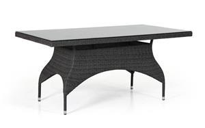 Nice musta polyrottinki 110 cm sivupöytä