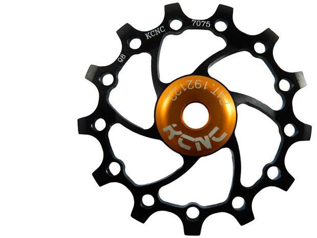 KCNC Original Jockey Wheel 14T Ceramic Bearing Long Teeth, black
