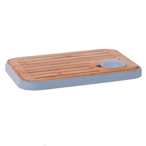 Leikkuulauta / tarjotin GOURMET 36x25.5cm, bambu / sininen