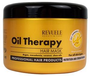 Arganiaöljyä sisältävä hiusnaamio Revuele Oil Therapy 500 ml
