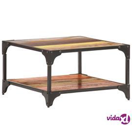 vidaXL Sohvapöytä 60x60x35 cm kierrätetty täyspuu