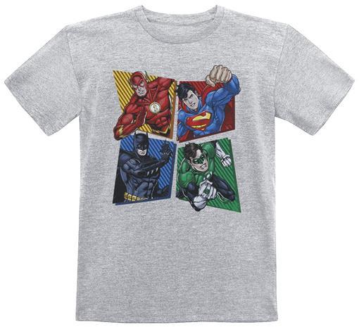 Justice League - United Heroes - T-paita - Unisex - Sävytetty harmaa, Miesten paidat, puserot ja neuleet