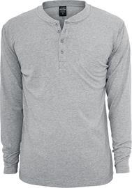 Urban Classics - Basic Henley - Pitkähihainen paita - Miehet - Harmaa, Miesten paidat, puserot ja neuleet