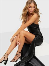 True Decadence Satin Maxi Dress Black