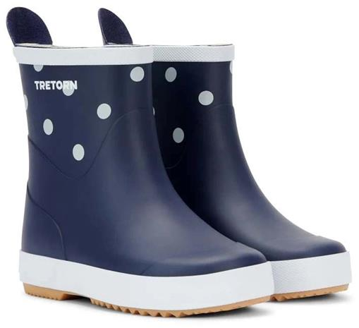 Tretorn Wings Kids Kumisaappaat, Navy/Dot, 30