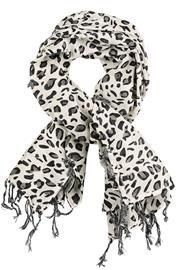 Rock Daddy - Leoparden Halstuch - Liina - Naiset - Musta harmaa valkoinen