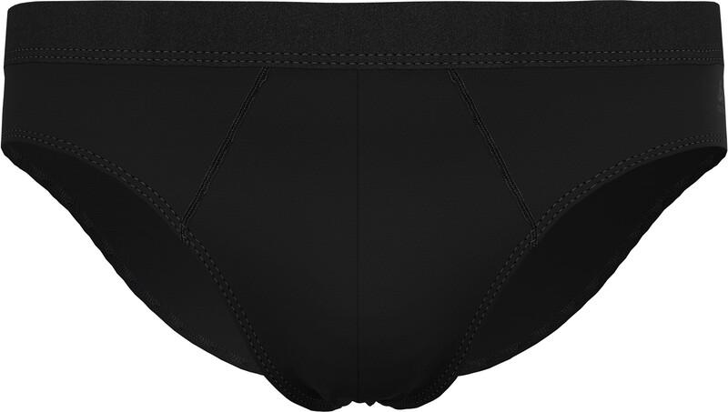 Odlo Active F-Dry Light Eco Bottom Brief Men, black, Miesten alusvaatteet, sukat, pyjamat ja kylpytakit