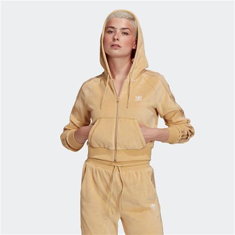 adidas LOUNGEWEAR Cropped Full Zip Hoodie, Naisten takit, paidat ja muut yläosat