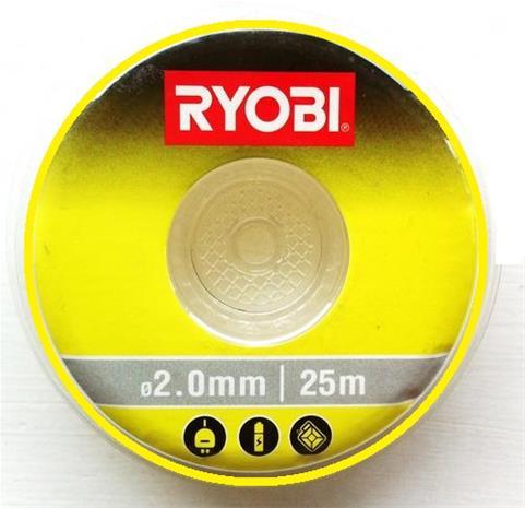 Leikkuulanka Ryobi RAC133; 2,0 mm/25 m; pyöreä