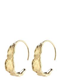 Pilgrim Earrings Compass Gold Plated Accessories Jewellery Earrings Hoops Kulta Pilgrim GOLD PLATED