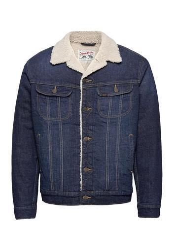 Lee Jeans Sherpa Jacket Farkkutakki Denimtakki Sininen Lee Jeans DEEP KANSAS