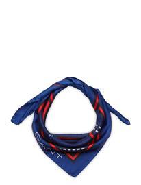 GANT D1. Signature Weave Silk Scarf Huivi Sininen GANT CRISP BLUE