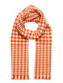 GANT D1. Houndstooth Wool Scarf Huivi Oranssi GANT DARK ORANGE