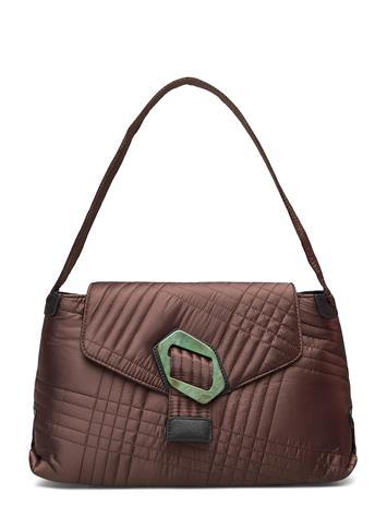 HVISK Billow Tile Bags Small Shoulder Bags - Crossbody Bags Ruskea HVISK DARK BROWN